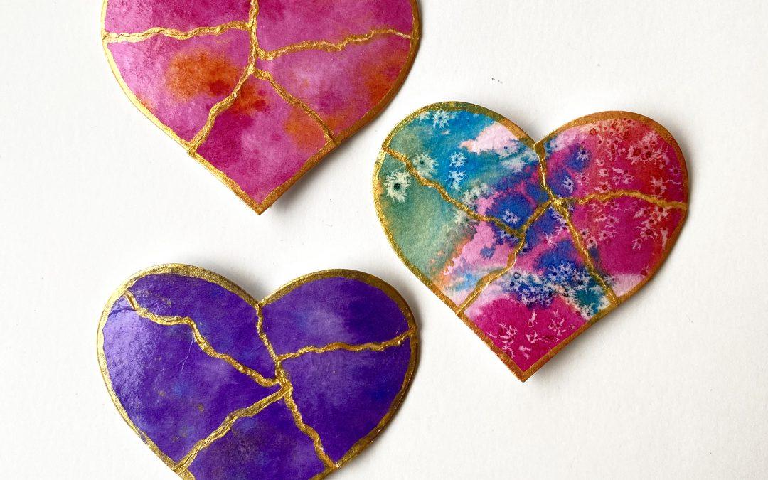 Kintsugi Mended Heart Art Workshop